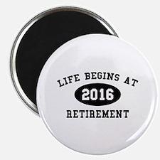 "Life Begins At Retirement 2.25"" Magnet (10 pack)"