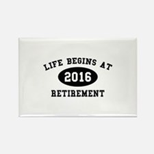 Life Begins At Retirement Rectangle Magnet