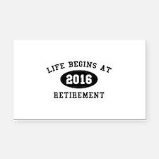 Life Begins At Retirement Rectangle Car Magnet