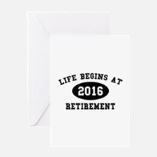 Life Begins At Retirement Greeting Card