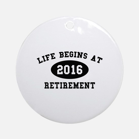 Life Begins At Retirement Ornament (Round)
