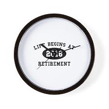 Life Begins At Retirement Wall Clock