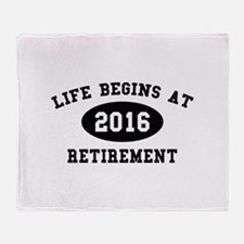 Life Begins At Retirement Stadium Blanket