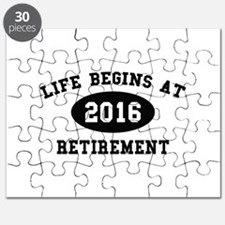 Life Begins At Retirement Puzzle