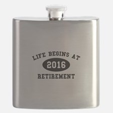 Life Begins At Retirement Flask