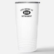Life Begins At Retirement Ceramic Travel Mug