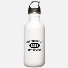 Life Begins At Retirement Water Bottle