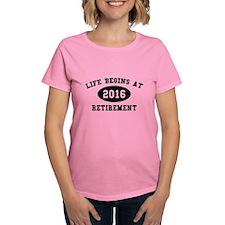 Life Begins At Retirement Tee
