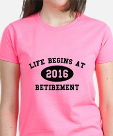 Life Begins At Retirement Tee