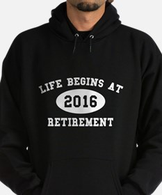 Life Begins At Retirement Hoodie