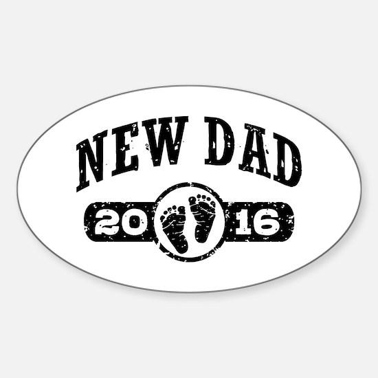 New Dad 2016 Sticker (Oval)