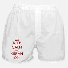 Keep Calm and Kieran ON Boxer Shorts