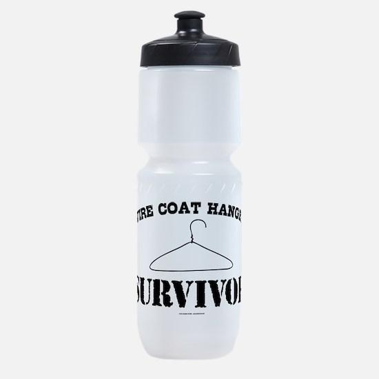 Wire Coat Hanger Survivor Sports Bottle
