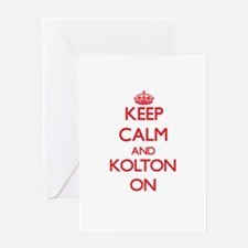 Keep Calm and Kolton ON Greeting Cards