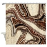 Brown marble pattern Shower Curtains