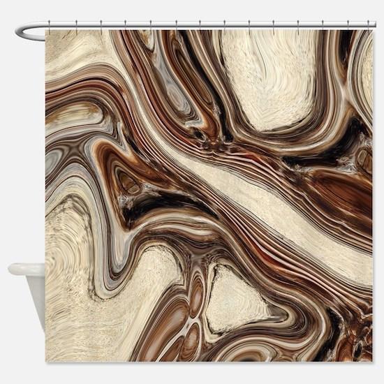 modern swirls Shower Curtain