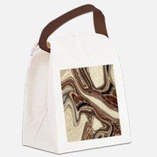 modern swirls Canvas Lunch Bag