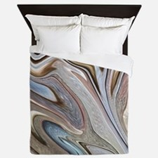 modern swirls Queen Duvet