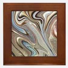 modern swirls Framed Tile