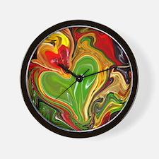 modern swirls Wall Clock