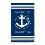 Nautical anchor personalized 3x5 Rugs