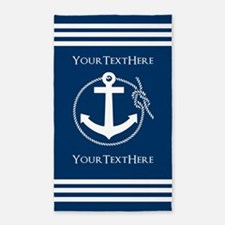 Nautical Anchor Personalized Area Rug