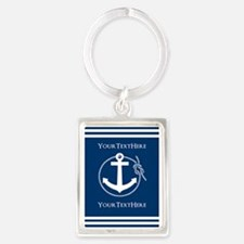Nautical Anchor Personalized Portrait Keychain