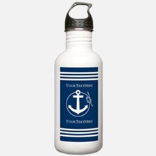 Nautical Anchor Person Water Bottle