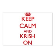 Keep Calm and Krish ON Postcards (Package of 8)