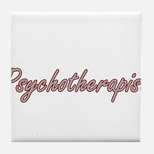 Psychotherapist Artistic Job Design Tile Coaster