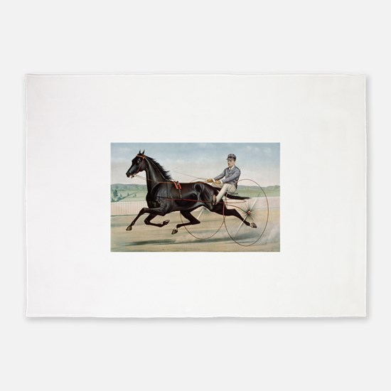 larness racing art 5'x7'Area Rug