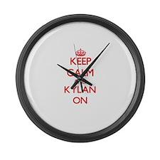 Keep Calm and Kylan ON Large Wall Clock