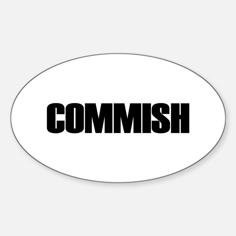 COMMISH Oval Decal