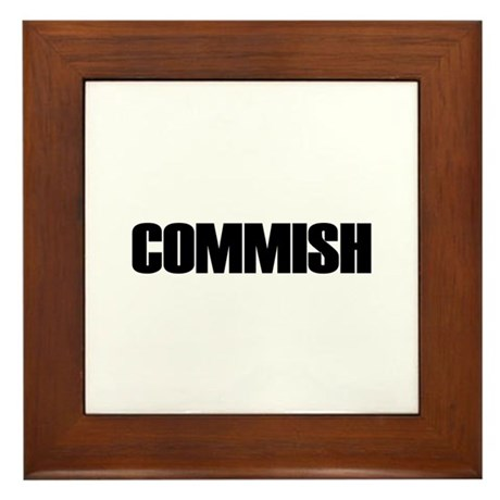 COMMISH Framed Tile