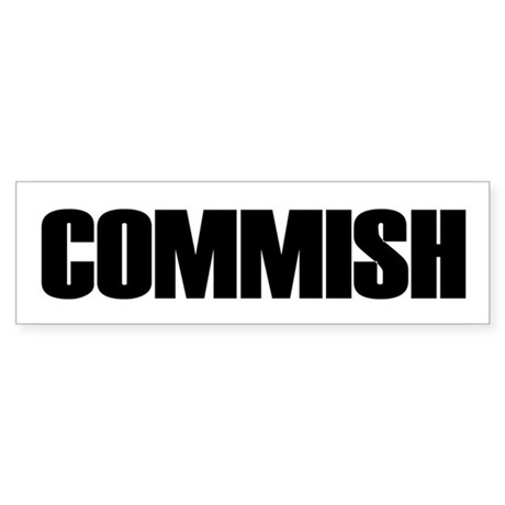 COMMISH Bumper Sticker