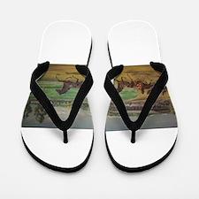 larness racing art Flip Flops