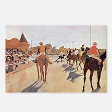 degas horse racing art Postcards (Package of 8)