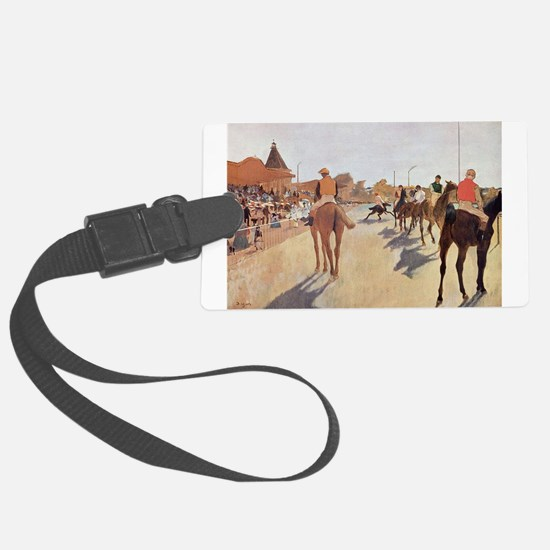 degas horse racing art Luggage Tag