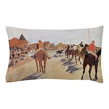 degas horse racing art Pillow Case