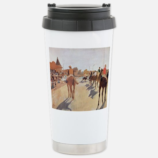 degas horse racing art Travel Mug