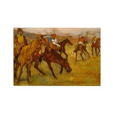 degas horse racing art Magnets
