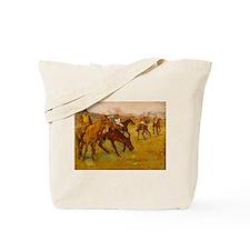 degas horse racing art Tote Bag