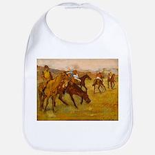 degas horse racing art Bib