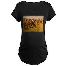 degas horse racing art Maternity T-Shirt