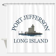 Port Jefferson - Long Island. Shower Curtain