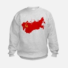 Red USSR Soviet Union map Communis Sweatshirt