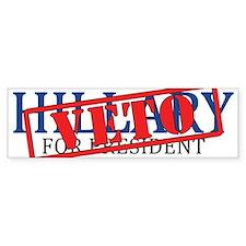 Veto Hillary Bumper Bumper Sticker