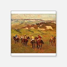 degas horse racing art Sticker