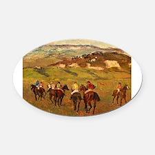 degas horse racing art Oval Car Magnet