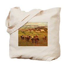degas horse racing art Tote Bag